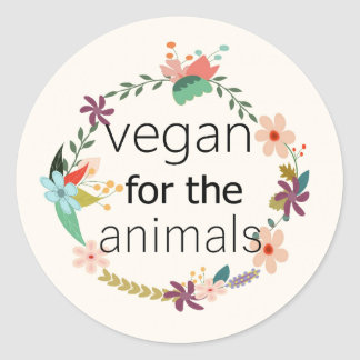 Sticker Rond Végétalien pour l'autocollant de conception