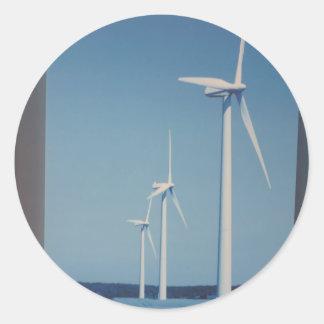 Sticker Rond Vent d'énergie propre, cadeaux propres nucléaires