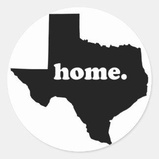 Sticker Rond Version à la maison 1 du Texas