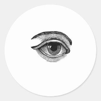 Sticker Rond Vêtements d'oeil
