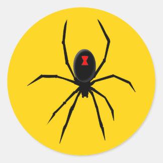Sticker Rond Veuve noire personnalisable