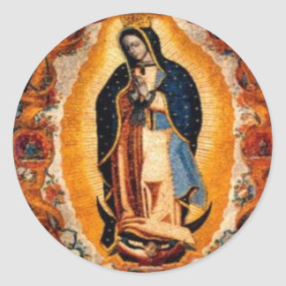 Sticker Rond Vierge de Guadalupe