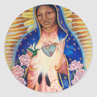 Sticker Rond Vierge Marie - notre Madame Of Guadalupe