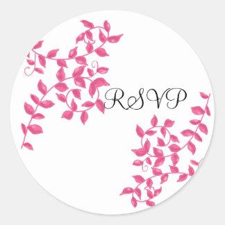 Sticker Rond Vignes RSVP de roses indien