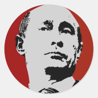 Sticker Rond Vladimir Poutine rouge