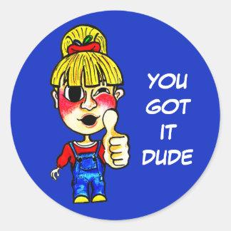 Sticker Rond Vous lui avez obtenu la citation | du TYPE |