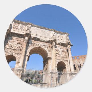 Sticker Rond Voûte à Rome, Italie
