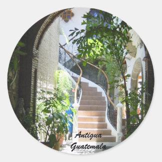 Sticker Rond Voûte au Guatemala