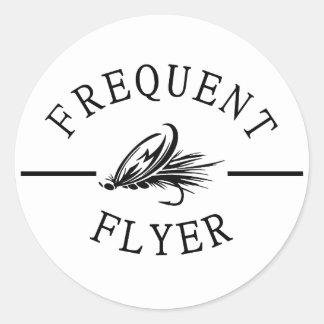 Sticker Rond Voyageur fréquent