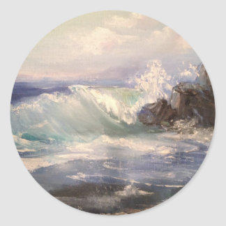 Sticker Rond Vue d'océan