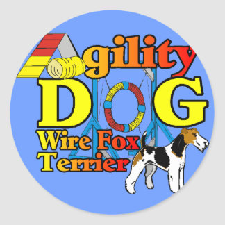 Sticker Rond Wire_Fox_Terrier_Agility_