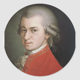 Sticker Rond Wolfgang Amadeus Mozart