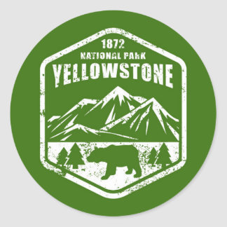 Sticker Rond Yellowstone