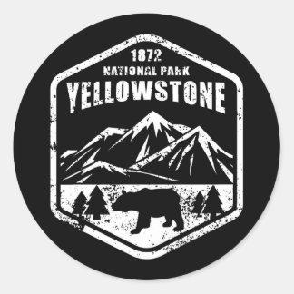 Sticker Rond Yellowstone                                      ,