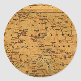 Sticker Rond yellowstone1915