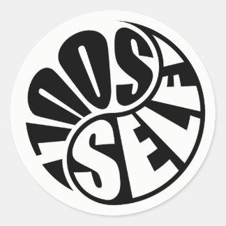 Sticker Rond Yin et Yang