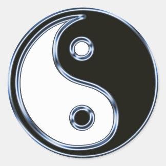 Sticker Rond Yin et Yang 2