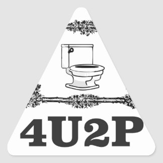 Sticker Triangulaire 4u2p fleuri