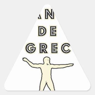 Sticker Triangulaire 50 NUANCES DE GREC - Jeux de Mots - Francois Ville