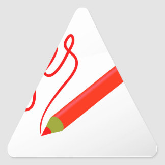 Sticker Triangulaire 72Red Pencil_rasterized