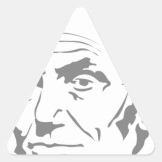 Sticker Triangulaire Abraham Lincoln