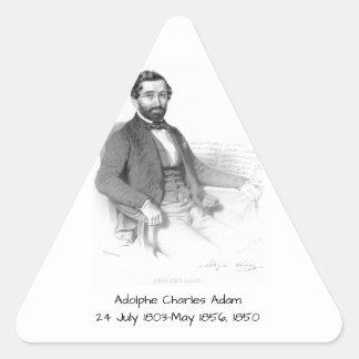 Sticker Triangulaire Adolphe Charles Adam, 1850