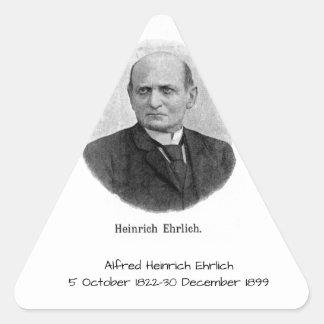 Sticker Triangulaire Alfred Heinrich Ehrlich