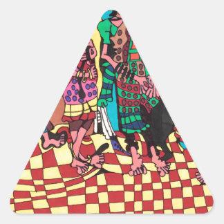 Sticker Triangulaire Amis