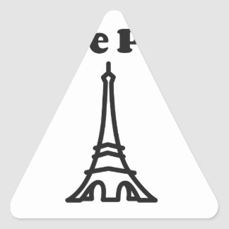Sticker Triangulaire Amour Paris