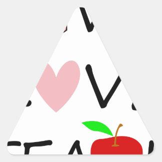 Sticker Triangulaire amour vivant teach2