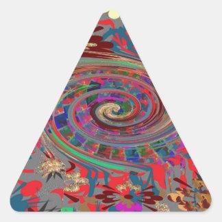 Sticker Triangulaire Amusement de retour de magnet de boutons
