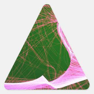Sticker Triangulaire amusement rose courageux