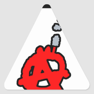Sticker Triangulaire Anarchitecte - Jeux de Mots - Francois Ville