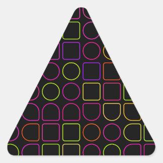 Sticker Triangulaire Anneaux de couleur