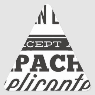Sticker Triangulaire Apache