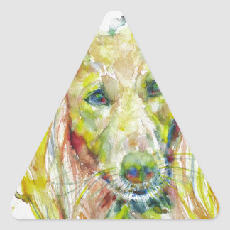 Sticker Triangulaire aquarelle SALUKI