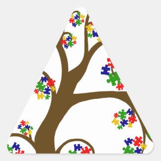 Sticker Triangulaire Arbre d'autisme de la vie