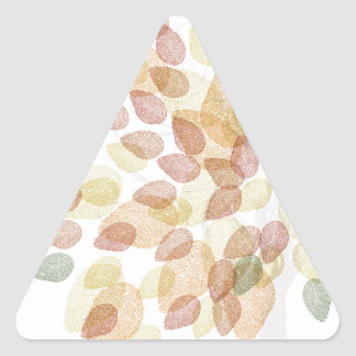 Sticker Triangulaire Arbre de bouleau dans des couleurs d'automne