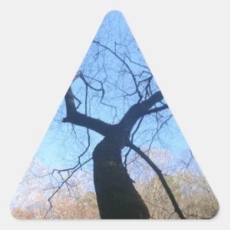 Sticker Triangulaire Arbre éffrayant
