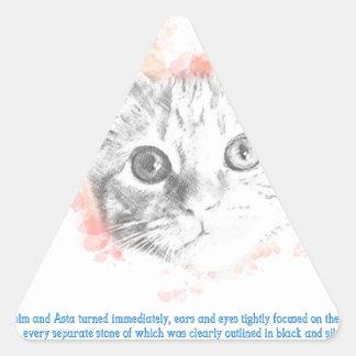 Sticker Triangulaire Asta - démon de Malcolm de ses matériaux foncés