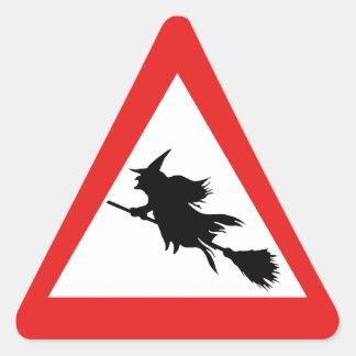 Sticker Triangulaire Avertissement de sorcière