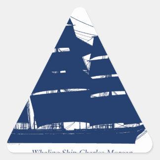 Sticker Triangulaire baleinier élégant Charles Morgan de fernandes