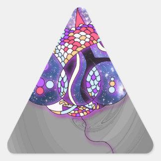 Sticker Triangulaire Ballons