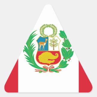 Sticker Triangulaire Bandera del Perú - drapeau du Pérou