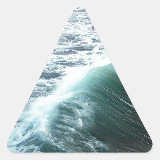 Sticker Triangulaire Bleu de l'océan pacifique