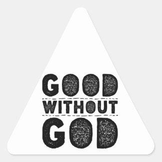 Sticker Triangulaire Bon sans Dieu