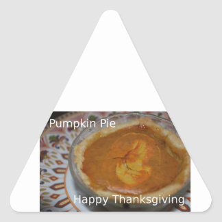 Sticker Triangulaire Bon thanksgiving et tarte de citrouille