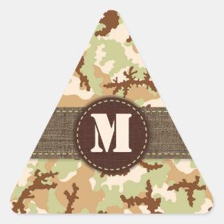 Sticker Triangulaire Camouflage de désert