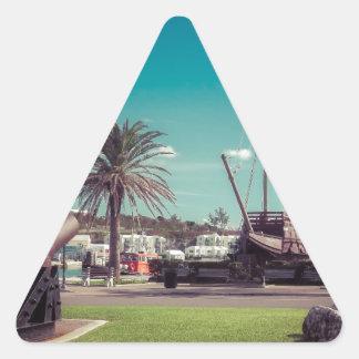 Sticker Triangulaire Canons de St Georges