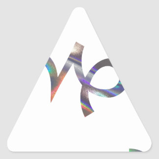 Sticker Triangulaire Capricorne d'hologramme